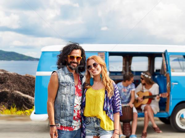 Feliz hippie parejas isla verano Foto stock © dolgachov