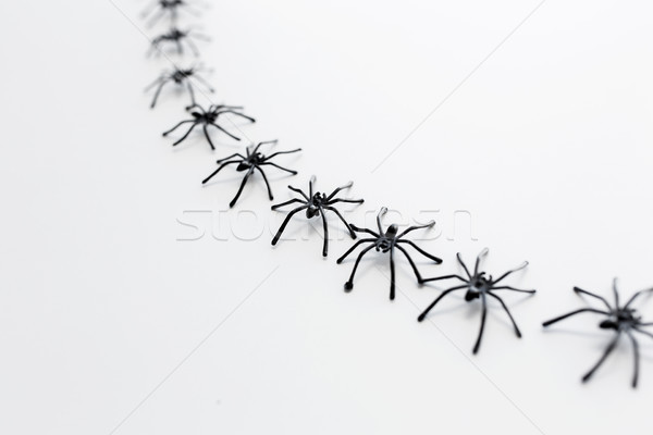 Preto brinquedo cadeia branco halloween Foto stock © dolgachov