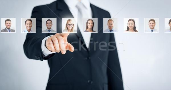 Humanos recursos carrera reclutamiento gestión éxito Foto stock © dolgachov