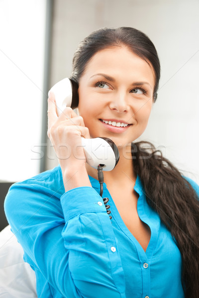 Stock photo: woman with phone