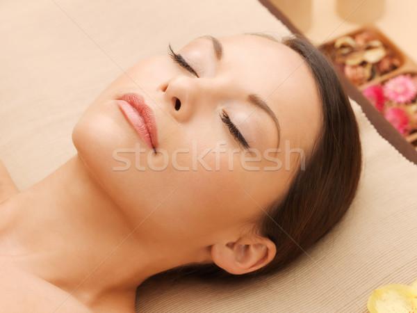 Stock photo: beautiful woman in spa salon