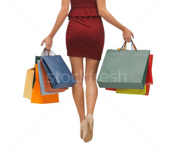Longues jambes photos femme Shopping magasin Photo stock © dolgachov