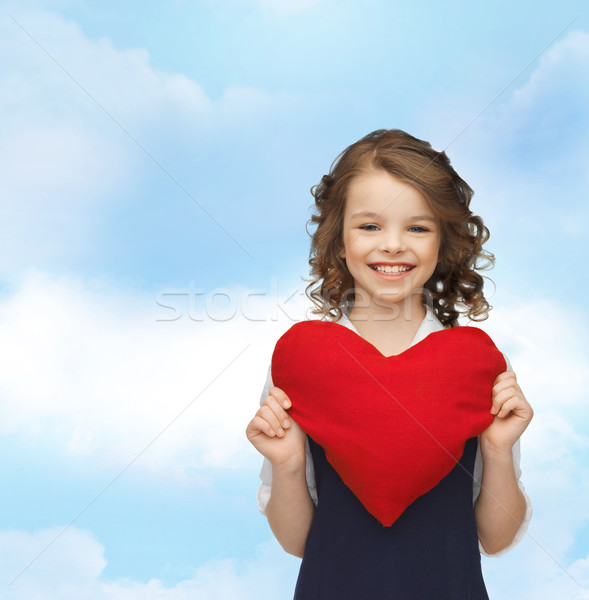 красивая девушка большой сердце жить детей счастье Сток-фото © dolgachov