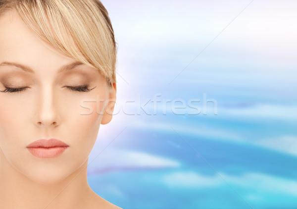 Bella donna capelli biondi salute bellezza faccia donna Foto d'archivio © dolgachov