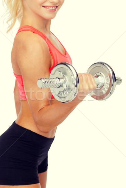 Femme lourd acier Photo stock © dolgachov