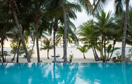 Foto stock: Piscina · playa · tropical · vacaciones · playa · verano · ocio