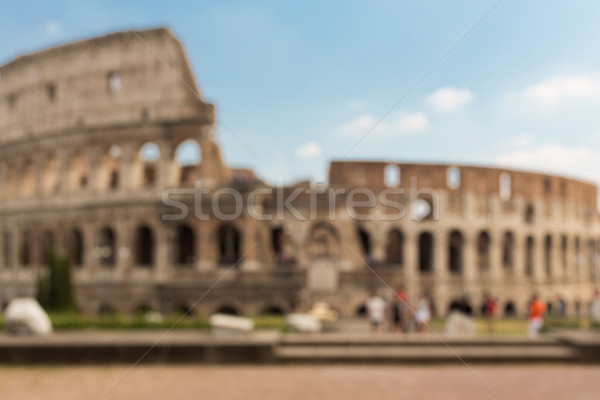 Colosseum in Rome background Stock photo © dolgachov