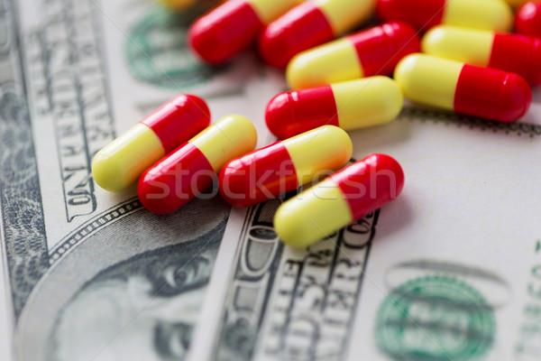 medical pills or drugs and dollar cash money Stock photo © dolgachov