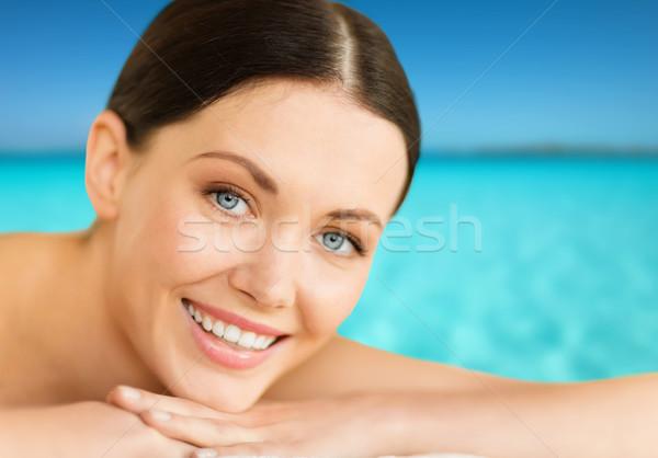 woman in spa Stock photo © dolgachov
