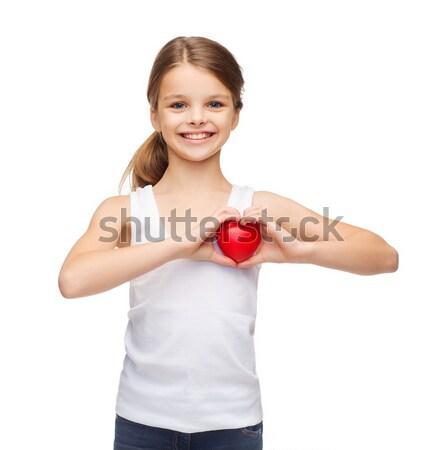 Foto d'archivio: Rosso · a · forma · di · cuore · infanzia