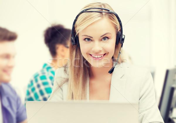 Línea de ayuda operador auriculares call center negocios tecnología Foto stock © dolgachov