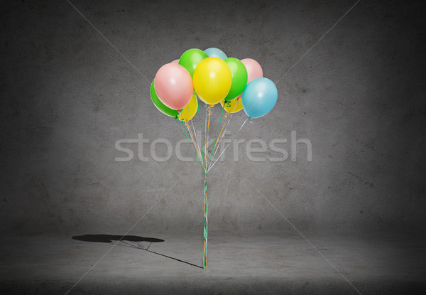 bunch of colorful helium balloons Stock photo © dolgachov