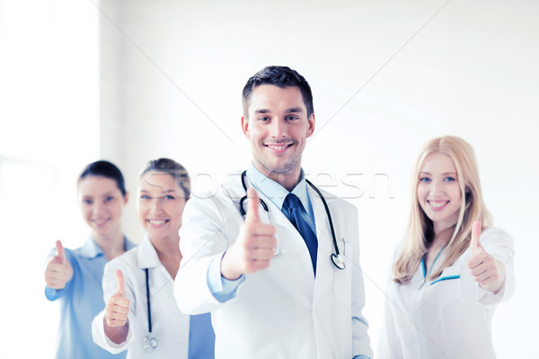 Stock photo: professional young team or group of doctors