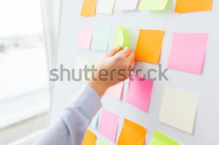 Papel em branco adesivos placa de cortiça negócio informação Foto stock © dolgachov