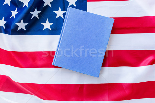 Amerikan bayrağı kitap amerikan gün milliyetçilik Stok fotoğraf © dolgachov