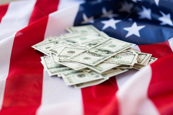 Drapeau américain dollar trésorerie argent budgétaire Photo stock © dolgachov