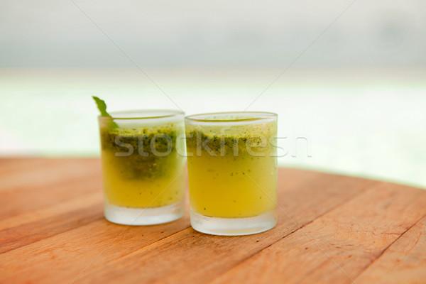 Stock fotó: Szemüveg · friss · dzsúz · koktél · tengerpart · utazás