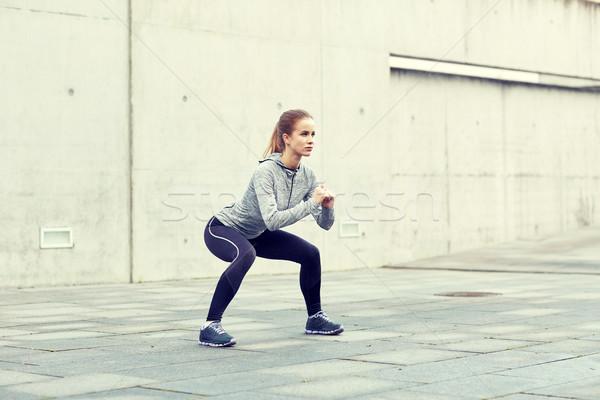 Kobieta odkryty fitness sportu Zdjęcia stock © dolgachov
