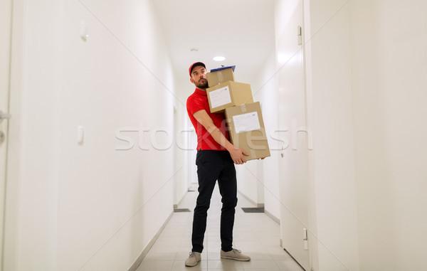 Сток-фото: коробки · коридор · доставки · почты