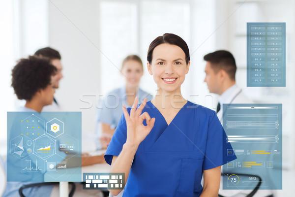 幸せ 医師 病院 印相 ストックフォト © dolgachov