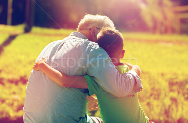 Dede torun açık havada aile nesil Stok fotoğraf © dolgachov