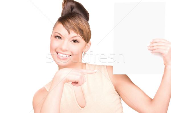 Сток-фото: счастливым · женщину · совета · белый · лице · молодые