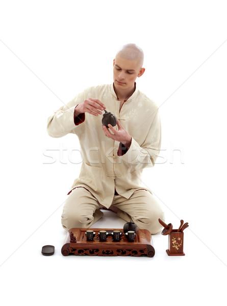 чай церемония фотография белый человека Сток-фото © dolgachov