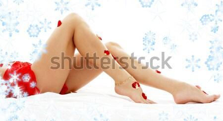 Siyah arzu kar taneleri klasik artistik çıplaklık Stok fotoğraf © dolgachov