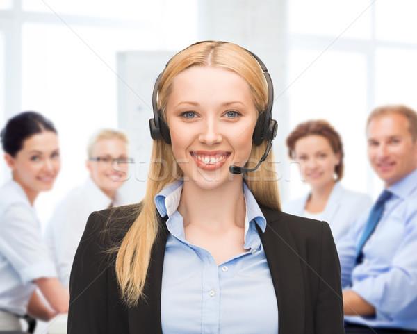 Operatora słuchawki call center działalności technologii Zdjęcia stock © dolgachov