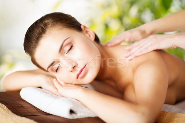 Femeie spa salon corp sănătate Imagine de stoc © dolgachov