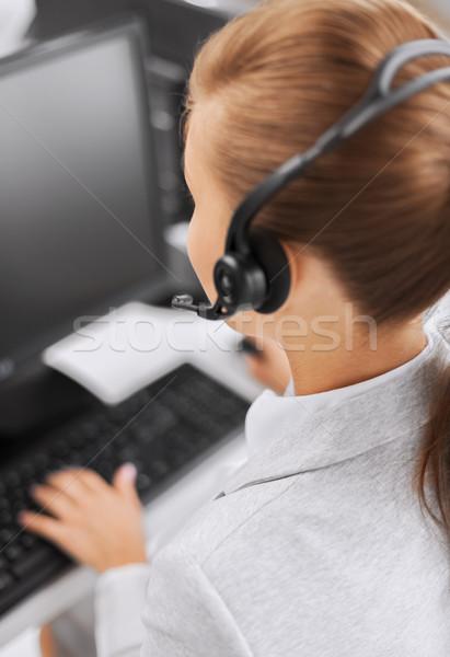 женщины телефон доверия оператор бизнеса служба школы Сток-фото © dolgachov