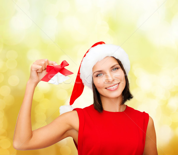 Vrouw helper hoed christmas kerstmis Stockfoto © dolgachov