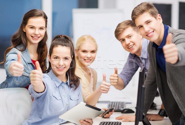 Stockfoto: Studenten · onderwijs · internet · groep
