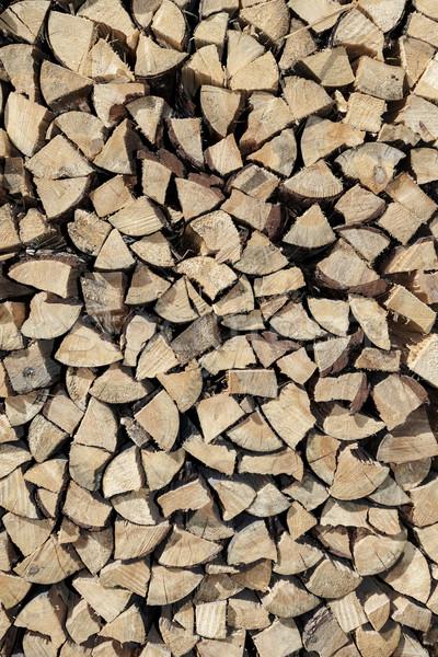 Brandhout textuur hout muur natuur Stockfoto © dolgachov