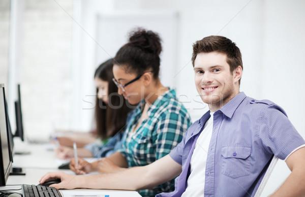 öğrenci bilgisayar eğitim okul eğitim grup Stok fotoğraf © dolgachov
