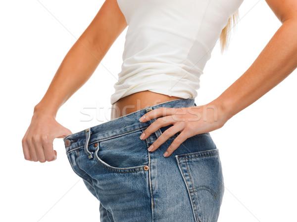 ストックフォト: 女性 · ビッグ · ジーンズ · 医療