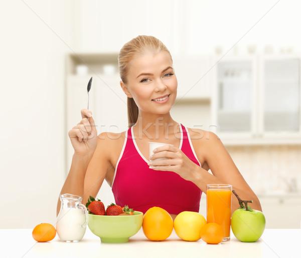 Mangiare sano colazione fitness sanitaria dieta Foto d'archivio © dolgachov