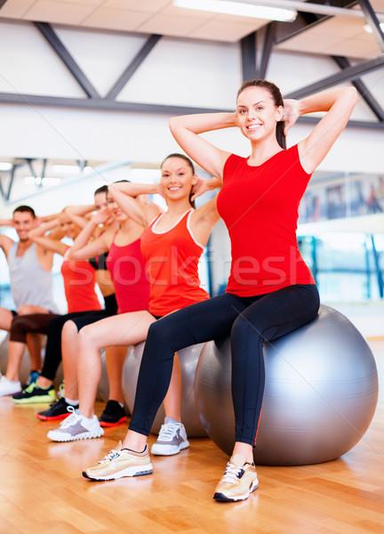 グループの人々  ピラティス クラス フィットネス スポーツ ストックフォト © dolgachov