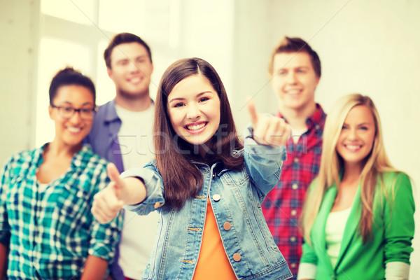 Zdjęcia stock: Studentów · szkoły · edukacji · szczęśliwy