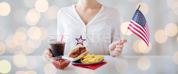 Kadın amerikan gün kutlama tatil Stok fotoğraf © dolgachov