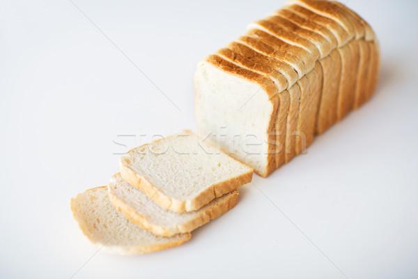 Beyaz tost ekmek tablo Stok fotoğraf © dolgachov