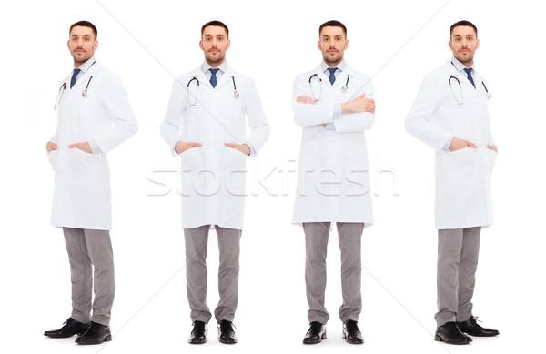 Médecins stéthoscope médecine profession cravate Photo stock © dolgachov