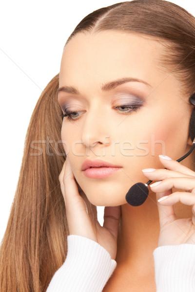 ヘルプライン 明るい 画像 優しい 女性 演算子 ストックフォト © dolgachov