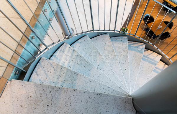 close up of stone spiral staircase at restaurant Stock photo © dolgachov