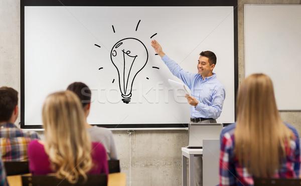 グループ 学生 幸せ 教師 ホワイトボード 教育 ストックフォト © dolgachov
