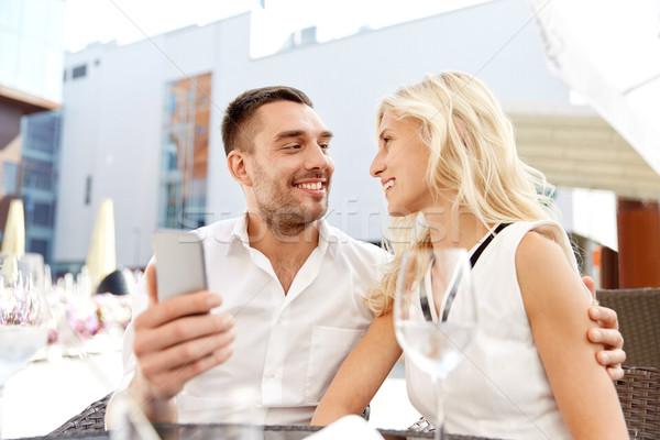 пару ресторан любви дата технологий Сток-фото © dolgachov