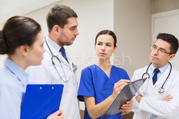 Grupy szpitala kliniki ludzi opieki zdrowotnej muzyka Zdjęcia stock © dolgachov