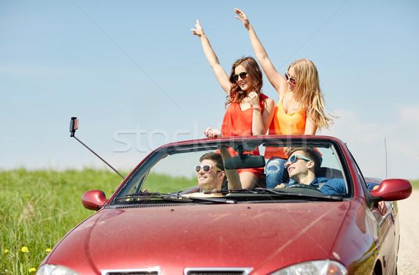 друзей вождения кабриолет автомобилей отдыха Сток-фото © dolgachov