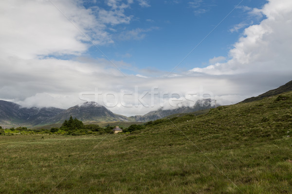 county house on plain of connemara in ireland Stock photo © dolgachov