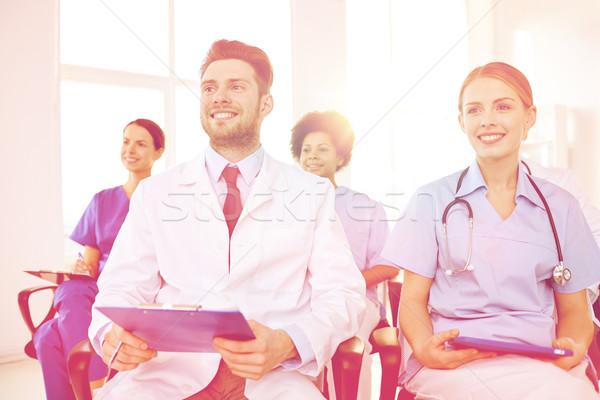 Gruppo felice medici seminario ospedale professione Foto d'archivio © dolgachov